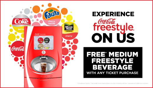 Experience Coca-Cola Freestyle ON US