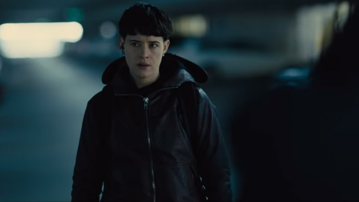 watch THE GIRL IN THE SPIDER'S WEB Extended Clip – Airport Escape
