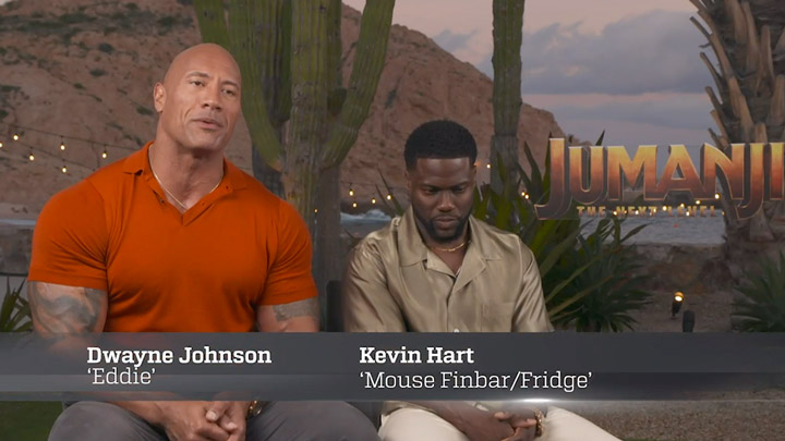 watch Jumanji: The Next Level Cast Exclusive Close Up Part 2